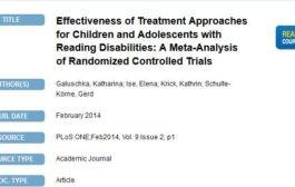 اثربخشی رویکردهای درمانیِ کودکان و نوجوانان مبتلا به ناتوانیهای خواندن