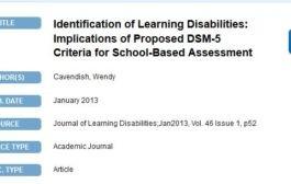 شناسایی اختلال های یادگیری