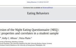 نسخه آلمانی پرسشنامه خوردن شبانه (NEQ): ویژگیهای روانسنجی و همبستهها در یک نمونه دانشجویی