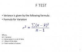 آزمون نسبت واریانس (آزمون F):  کاربرد نسبت F برای مقایسه دو واریانس
