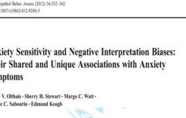 حساسیت اضطرابی و سوگیری های تفسیری منفی