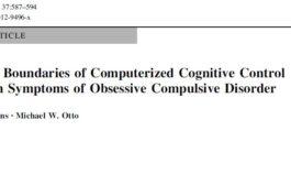 آموزش کامپیوتری کنترل شناختی بر علائم اختلال وسواس