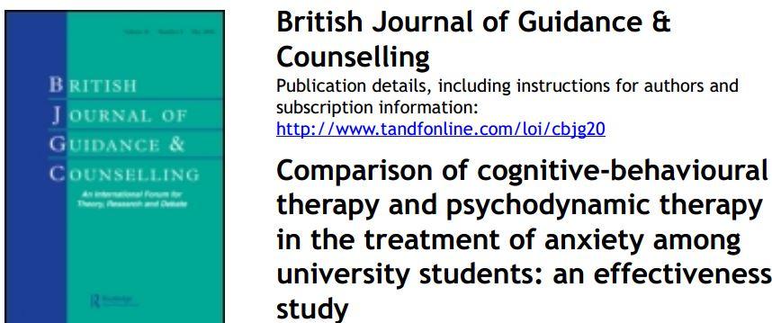 مقایسه اثربخشی درمان شناختی رفتاری با روانپویشی / روان حامی