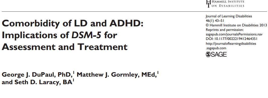 همبودی اختلال یادگیری و اختلال نارسایی توجه بیش فعالی: الزامهای DSM 5 برای ارزیابی و درمان