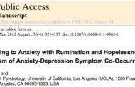 پاسخدهي به اضطراب با نشخوار و ناامیدی