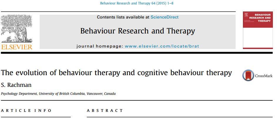 تکامل رفتار درمانی و درمان شناختی رفتاری