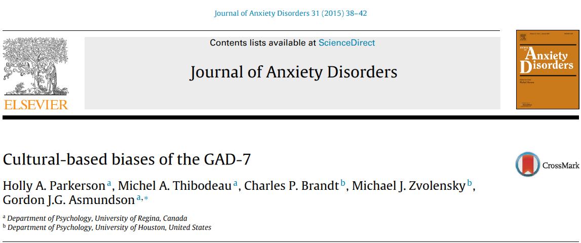 سوگیری مبتنی بر فرهنگ در مقیاس اختلال اضطراب فراگیر