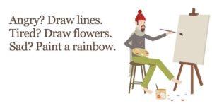 هیجاناتتان را ترسیم یا نقاشی کنید.