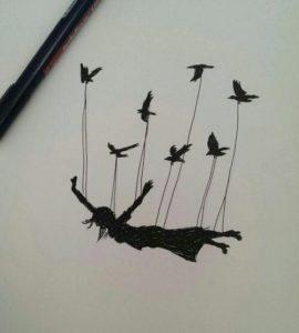 نقاشی بکشید که بیانگر آزادی باشد.