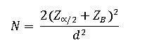 فرمول تعیین حجم نمونه برای پژوهش آزمایشی