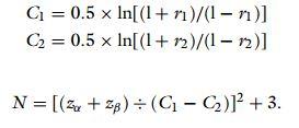 فرمول محاسبه حجم نمونه موردنیاز تحقیق همبستگی