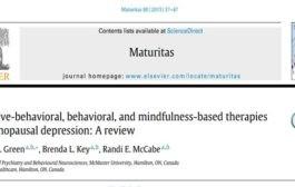 افسردگی یائسگی: اثربخشی درمانهای شناختی رفتاری، رفتاری، و مبتنی بر بهوشیاری (ذهنآگاهی)