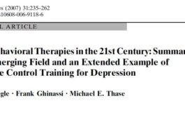 درمان های عصبی رفتاری در قرن بیستویکم