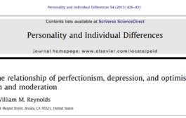 کمال گرايي ، افسردگی و خوش بینی: آزمودن واسطه ای و تعدیل کنندگی