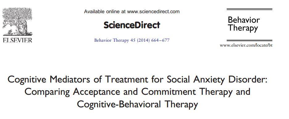 تعدیل کنندههای شناختی درمان اختلال اضطراب اجتماعی