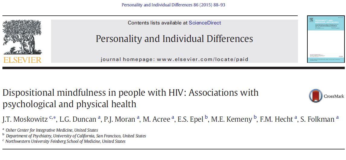 ذهن آگاهی گرایشی در افراد مبتلا به HIV