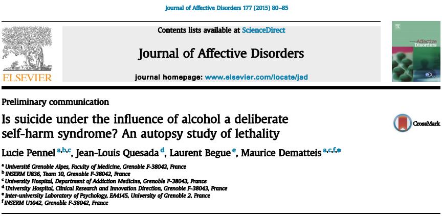 خودکشی تحت تاثیر الکل