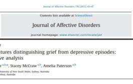 ویژگی های بالینی متمایز کننده دوره های اندوه از افسردگی: تجزیه و تحلیلی کیفی