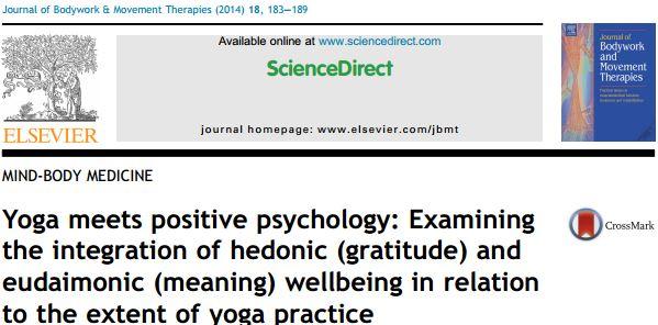 ملاقات یوگا با روانشناسی مثبت