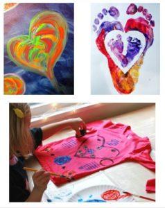 داخل یک قلب نقاشی کنید.